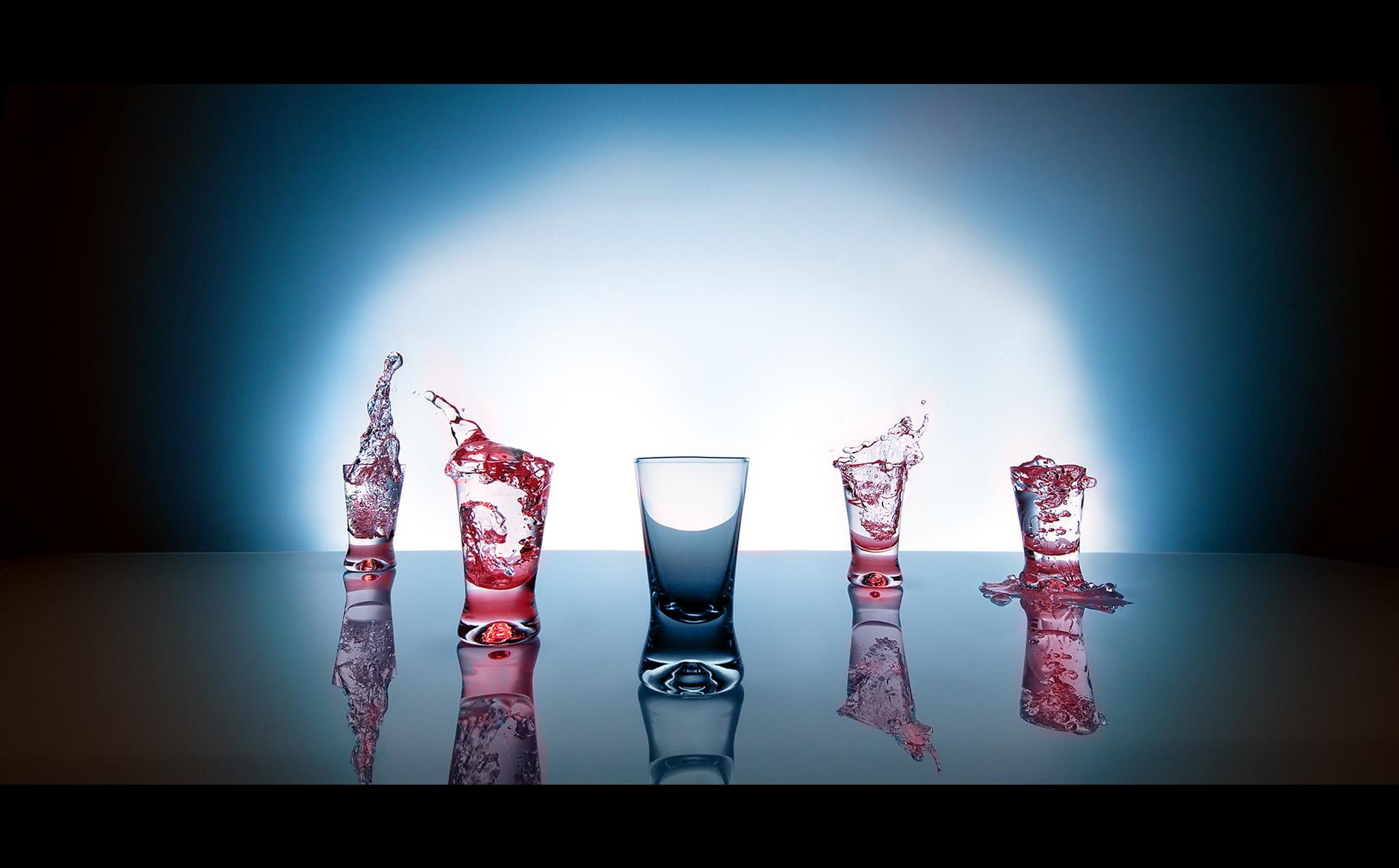 Stand Still - vodka glasses concept shot